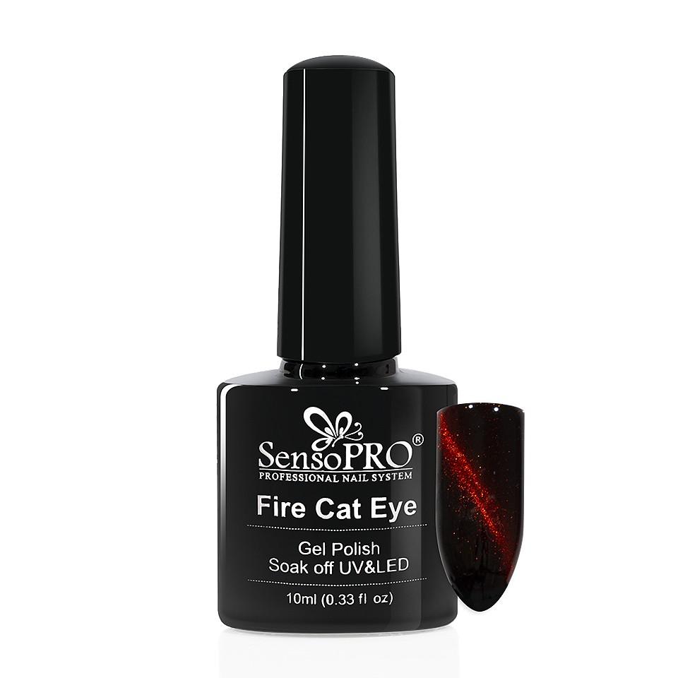 Oja Semipermanenta Fire Cat Eye SensoPRO 10 ml #10 imagine 2021 kitunghii