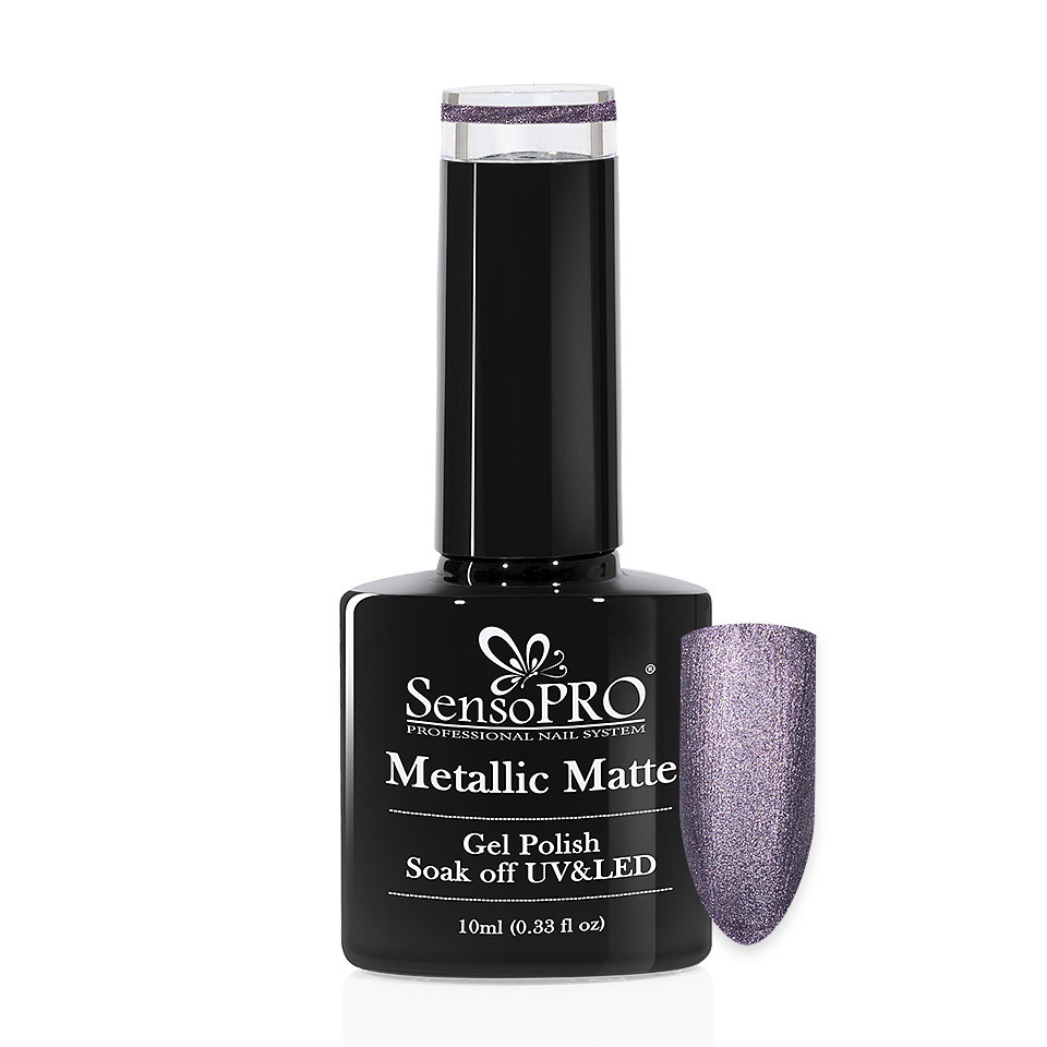 Oja Semipermanenta Metallic Matte SensoPRO 10ml, Dark Lava #001 imagine 2021 kitunghii