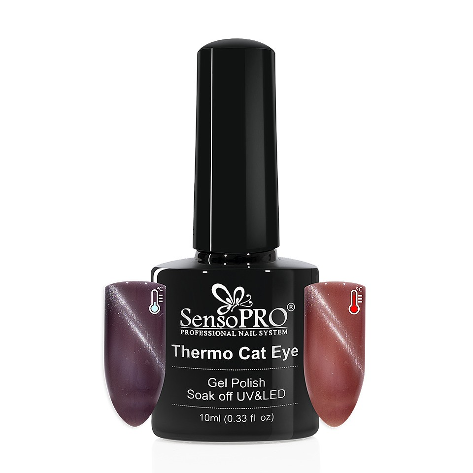 Oja Semipermanenta Thermo Cat Eye SensoPRO 10 ml, #04 imagine 2021 kitunghii