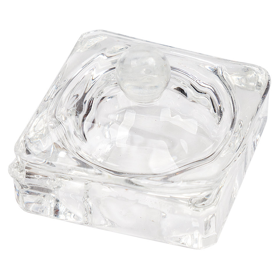 Paharel din sticla cu capac Glass Cube