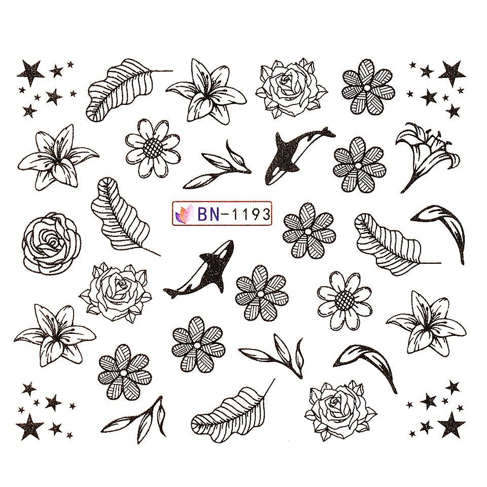 Tatuaj unghii LUXORISE, Fantasy BN-1193 imagine 2021