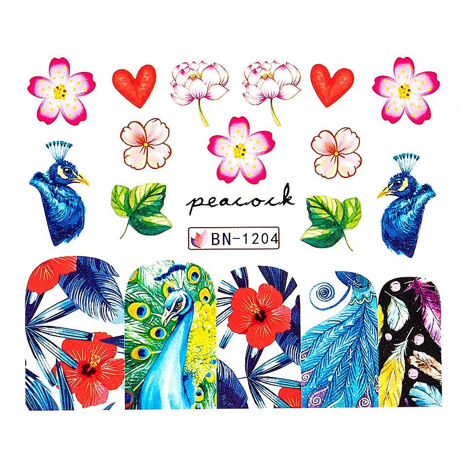 Tatuaj unghii LUXORISE, Peacock BN-1204 imagine produs