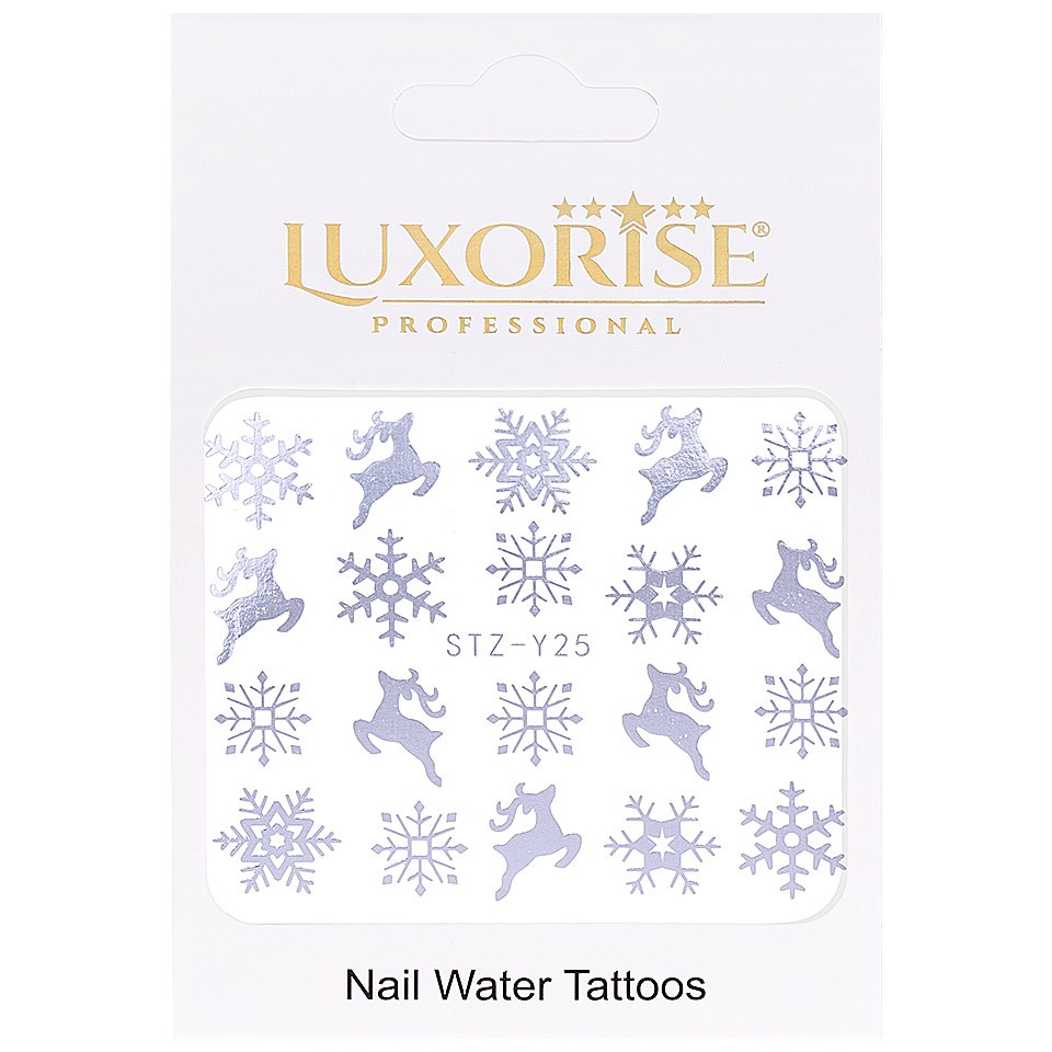 Tatuaj unghii LUXORISE, Winter STZ-Y25 argintiu imagine produs