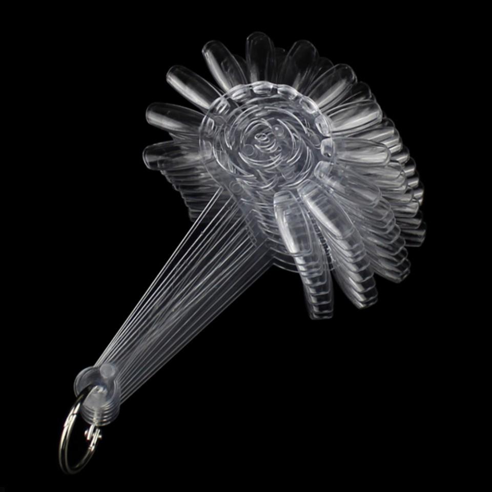 Paletar unghii Margareta 120 tipsuri exersare si expunere, transparent
