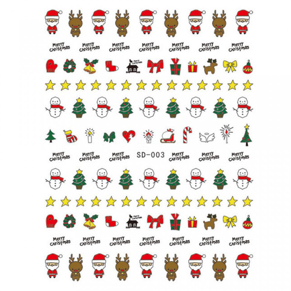 Abtibild unghii SD-003 Jingle Bells kitunghii.ro