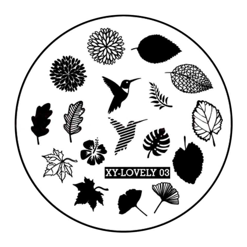 Matrita Metalica Stampila Unghii XY-LOVELY03 - Nature imagine 2021 kitunghii