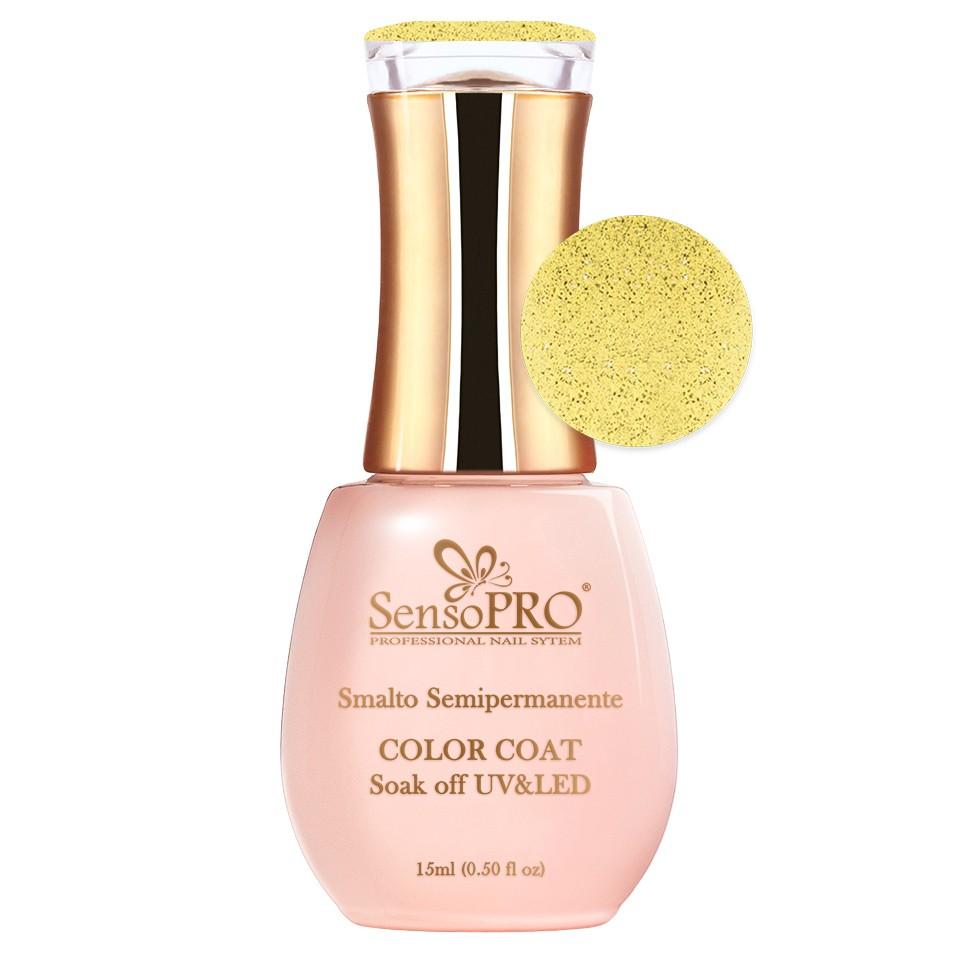 Oja Semipermanenta SensoPRO 15ml culoare Galben - 018 Lemon Sparkle imagine 2021 kitunghii
