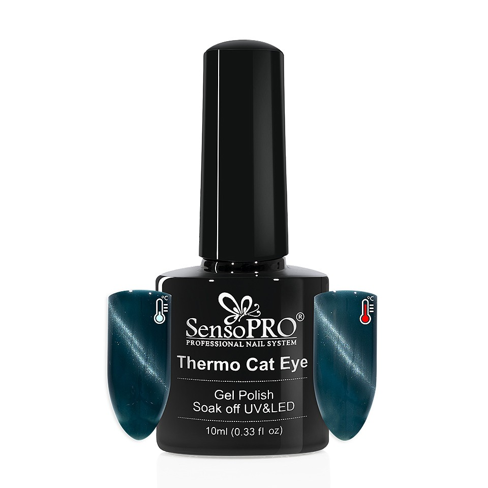 Oja Semipermanenta Thermo Cat Eye SensoPRO 10 ml, #24 imagine 2021 kitunghii