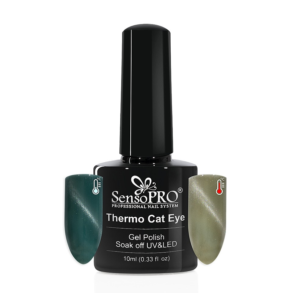 Oja Semipermanenta Thermo Cat Eye SensoPRO 10 ml, #25 imagine 2021 kitunghii