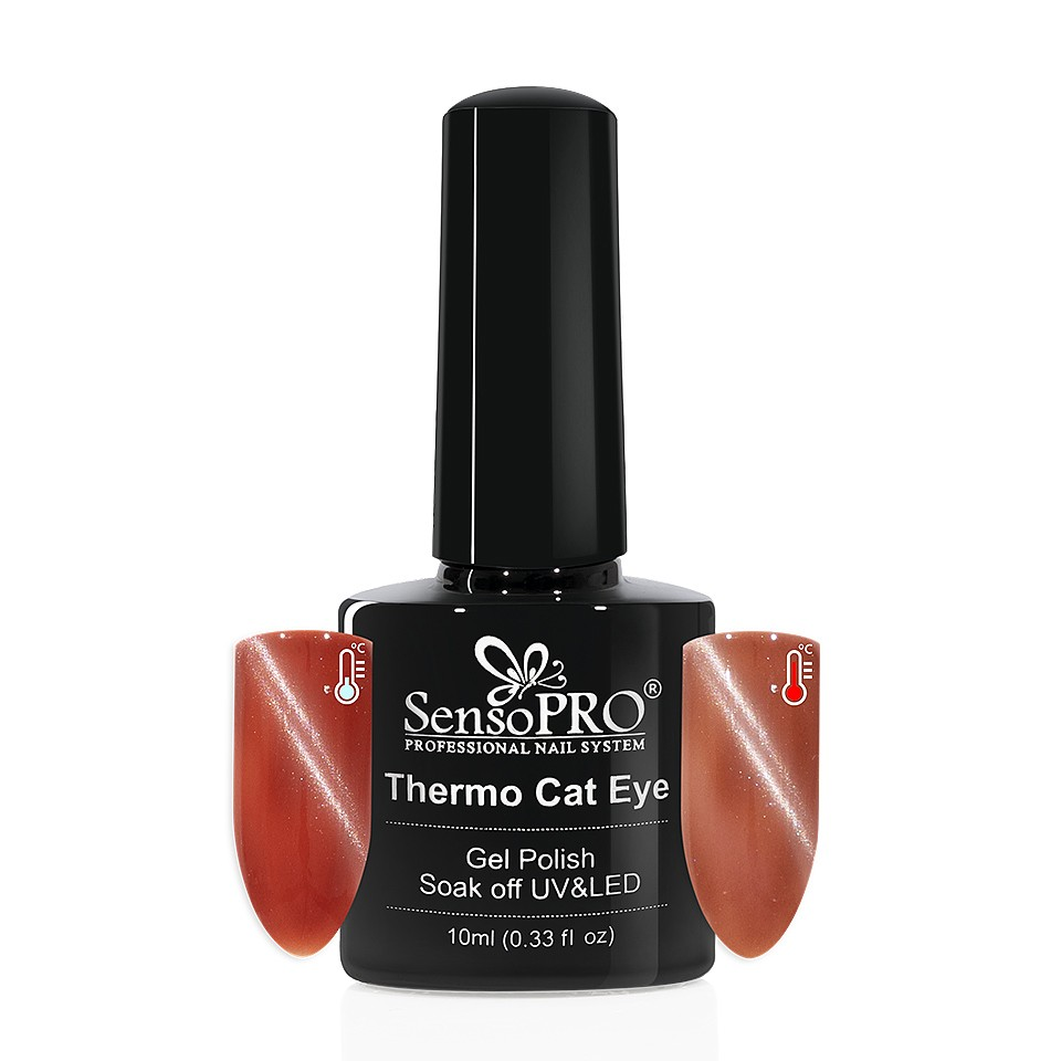 Oja Semipermanenta Thermo Cat Eye SensoPRO 10 ml, #33 imagine 2021 kitunghii