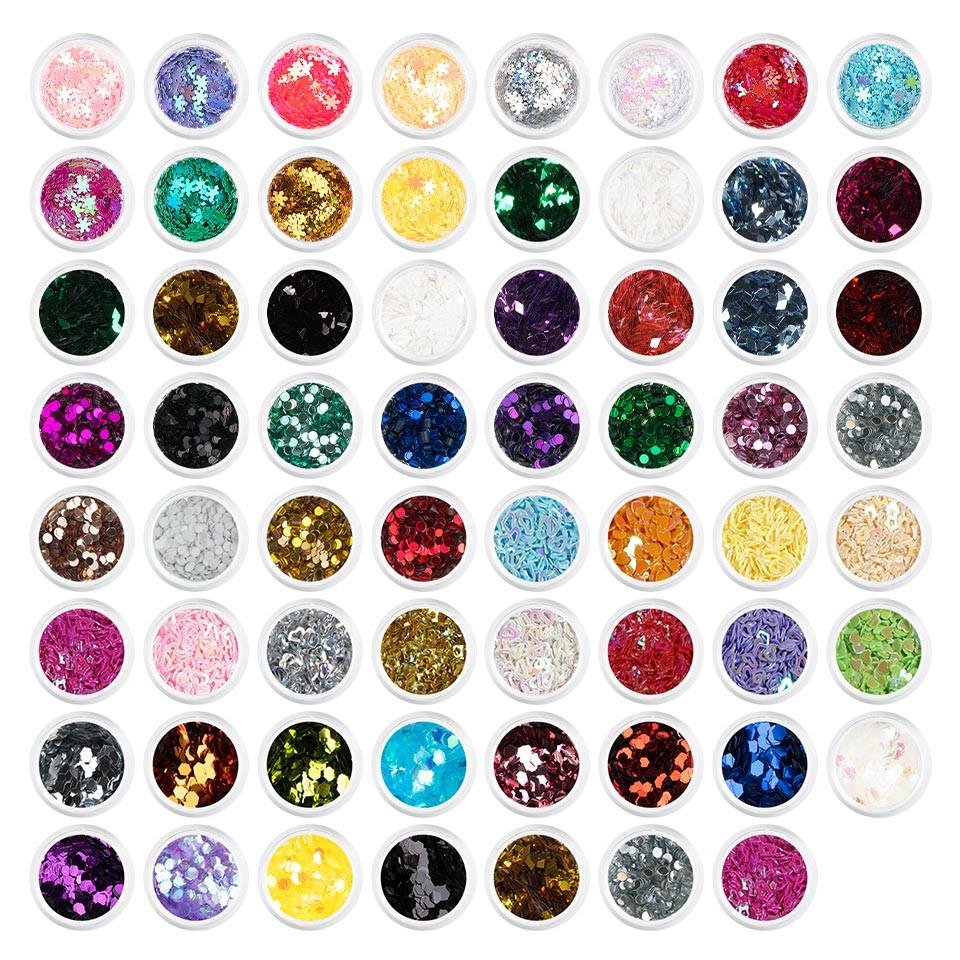 Paiete unghii sclipici Sparkling Nails - Set 63 bucati kitunghii.ro