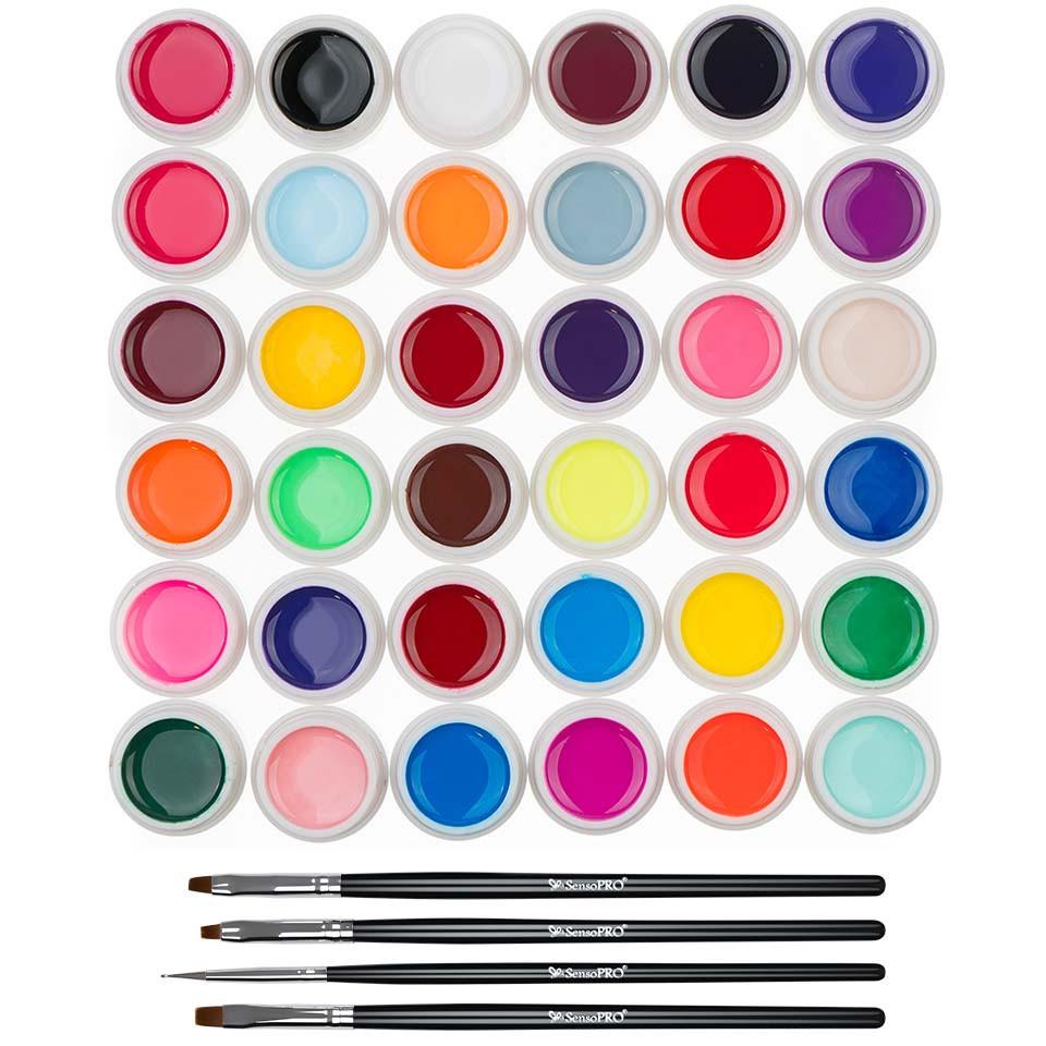 Set 36 geluri UV Color ENS PRO + CADOU