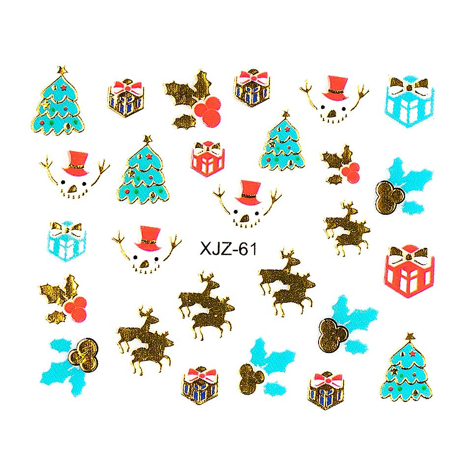 Sticker 3D Unghii LUXORISE XJZ-61, Christmas Collection kitunghii.ro