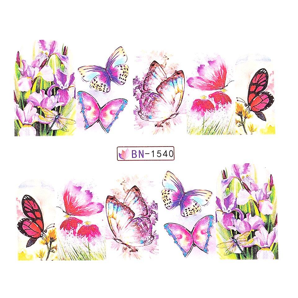 Tatuaj unghii LUXORISE, Butterfly BN-1540 kitunghii.ro