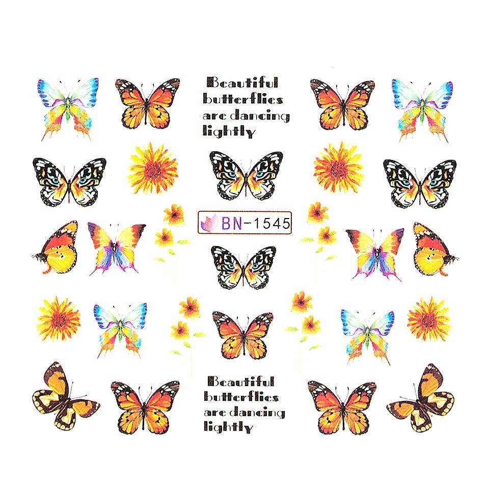 Tatuaj unghii LUXORISE, Butterfly BN-1545 kitunghii.ro