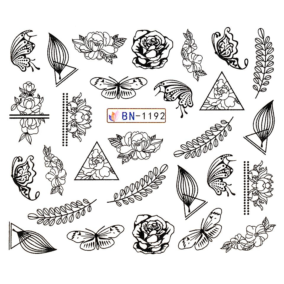 Tatuaj unghii LUXORISE, Fantasy BN-1192 imagine 2021 kitunghii