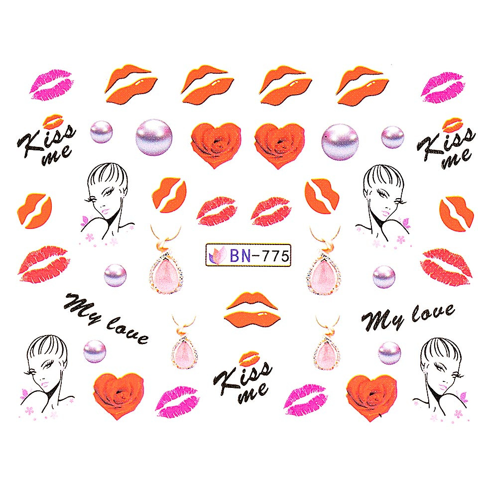 Tatuaj unghii LUXORISE, Love BN-775 imagine 2021