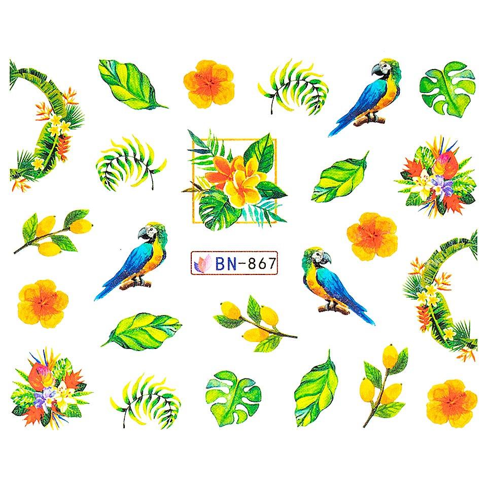 Tatuaj unghii LUXORISE, Tropical BN-867 imagine produs