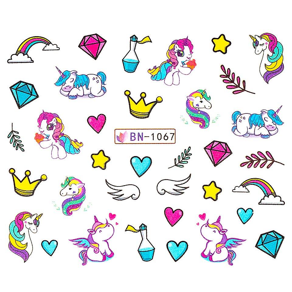 Tatuaj unghii LUXORISE, Unicorn BN-1067 imagine produs