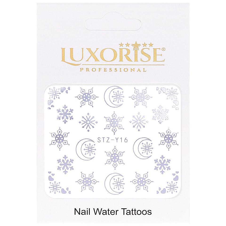 Tatuaj unghii LUXORISE, Winter STZ-Y16 argintiu imagine produs