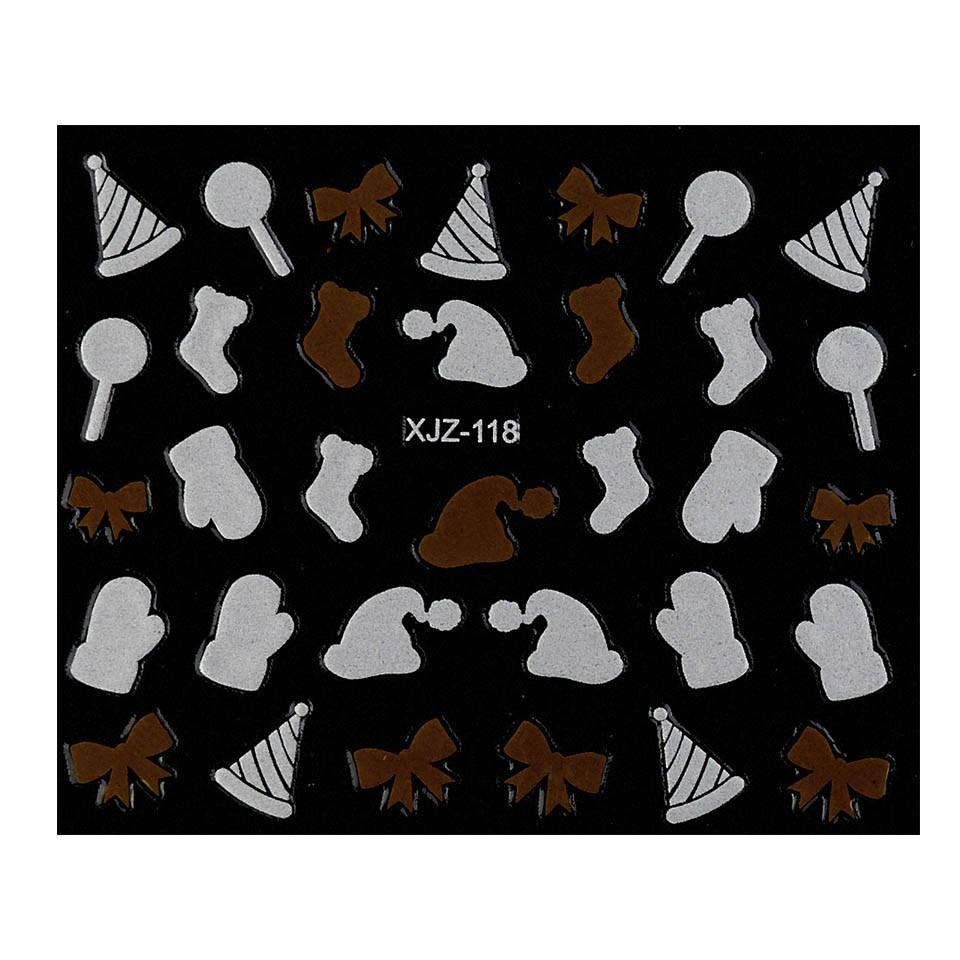 Abtibild unghii XJZ-118 Seara de Sarbatori – Dulce Dor