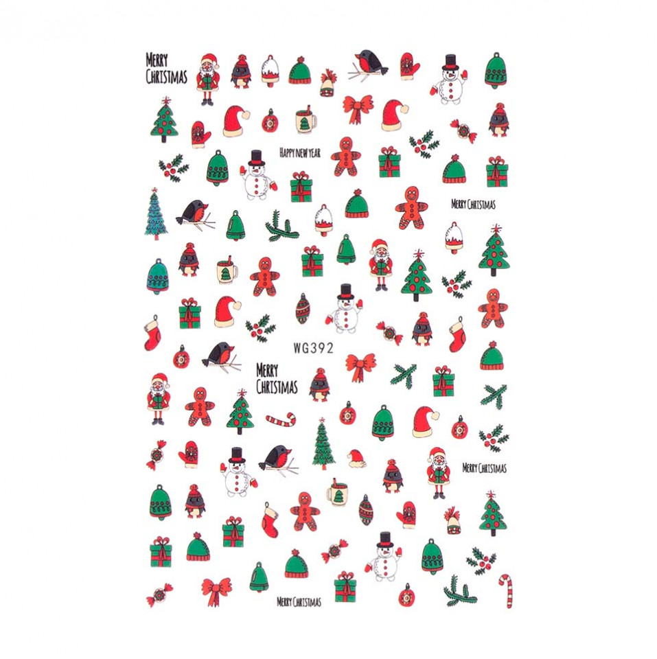 Abtibilduri unghii SensoPRO Christmas, model WG392 imagine produs