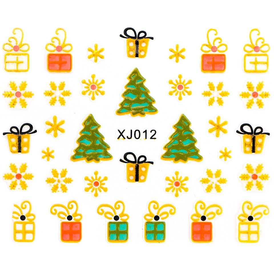 Folie Sticker 3D unghii, model xj012
