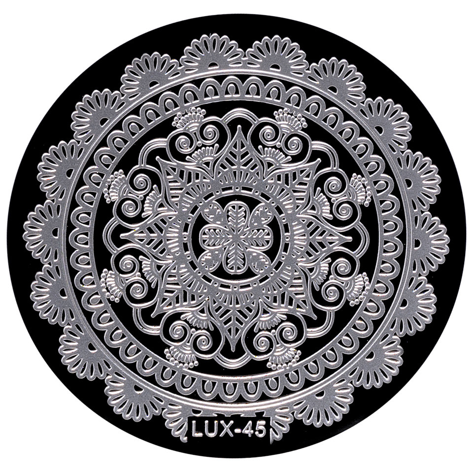 Matrita Metalica Stampila Unghii LUX-45 - Mandala imagine 2021 kitunghii