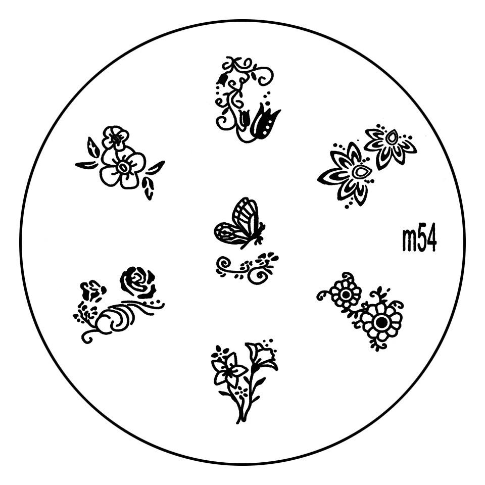 Matrita Metalica Stampila Unghii M54 - Nature imagine 2021 kitunghii