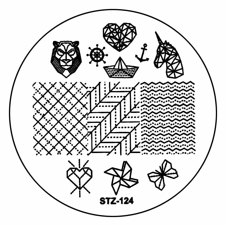 Matrita Metalica Stampila Unghii STZ-124 - Nature imagine 2021 kitunghii