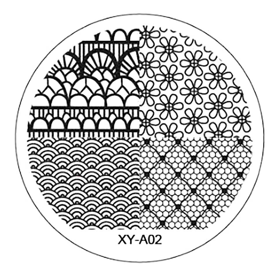 Matrita Metalica Stampila Unghii XY-A02 - Nature imagine 2021 kitunghii