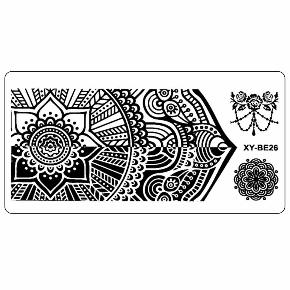 Matrita Metalica Stampila Unghii XY-BE26 - Mandala imagine 2021 kitunghii