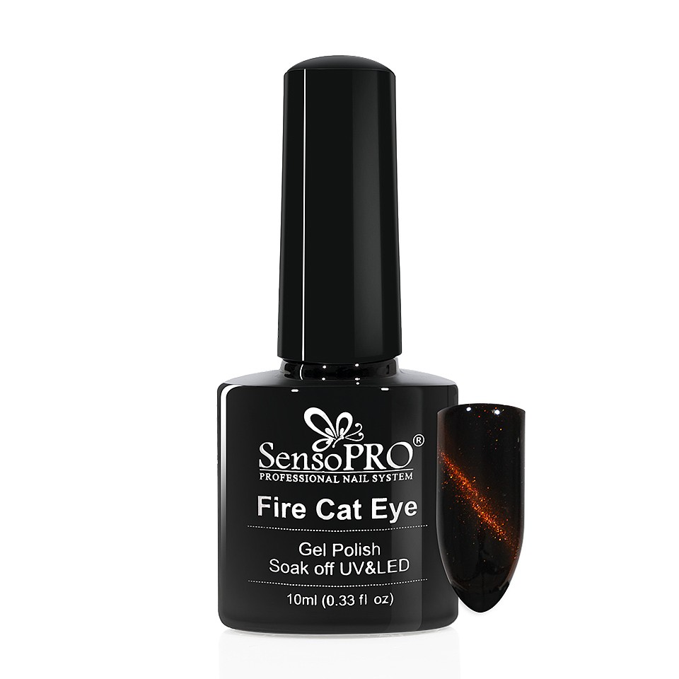 Oja Semipermanenta Fire Cat Eye SensoPRO 10 ml #12 imagine 2021 kitunghii