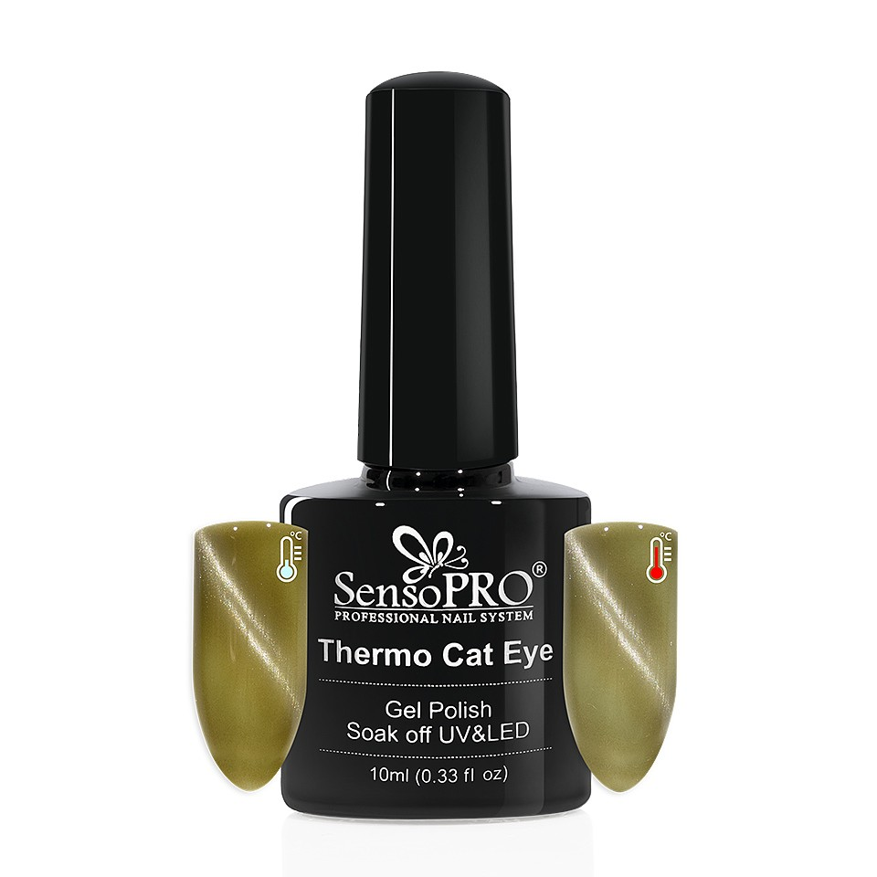 Oja Semipermanenta Thermo Cat Eye SensoPRO 10 ml, #02 imagine 2021 kitunghii