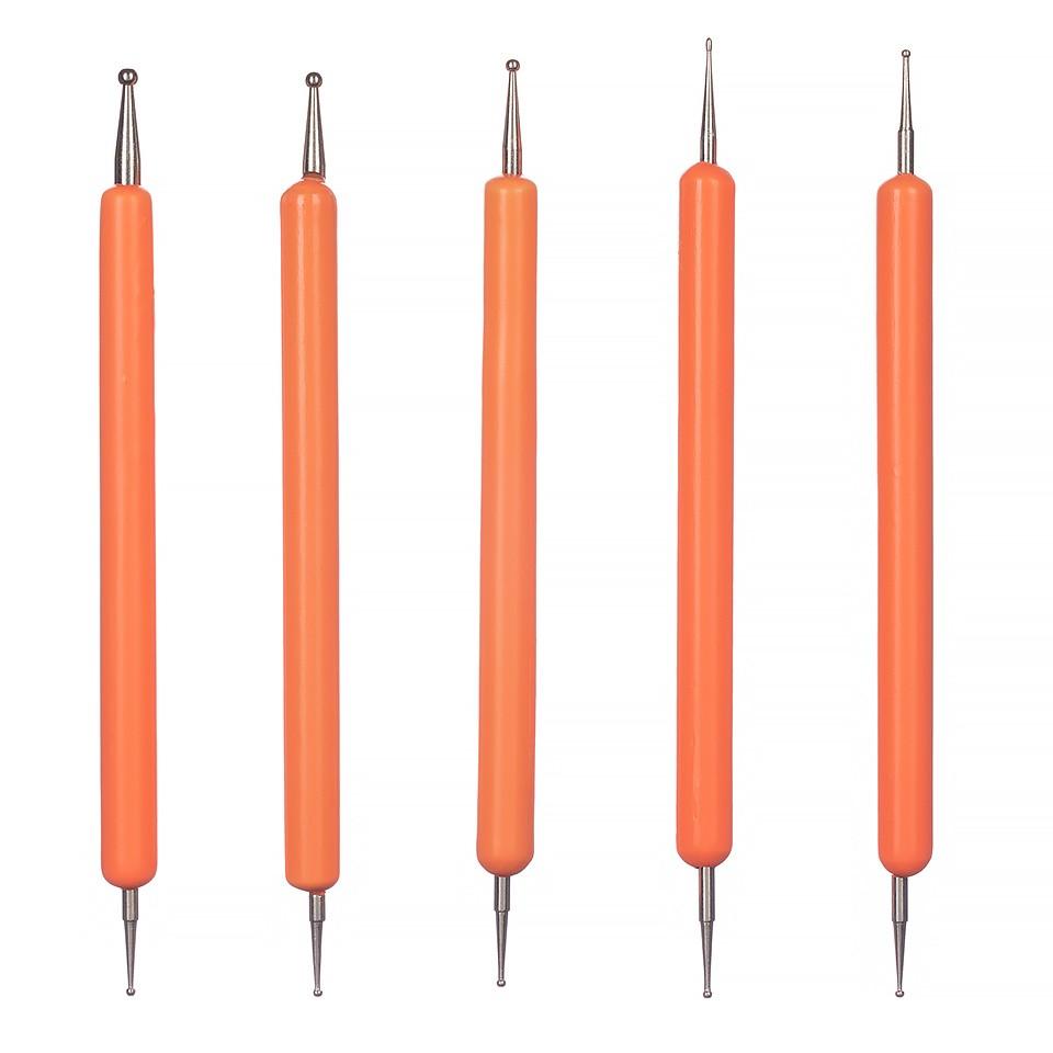 Set 5 Punctatoare pentru Unghii The Orange Five, calitate premium kitunghii.ro