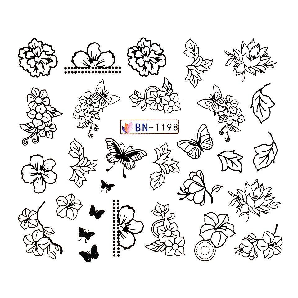 Tatuaj unghii LUXORISE, Butterfly BN-1198 kitunghii.ro