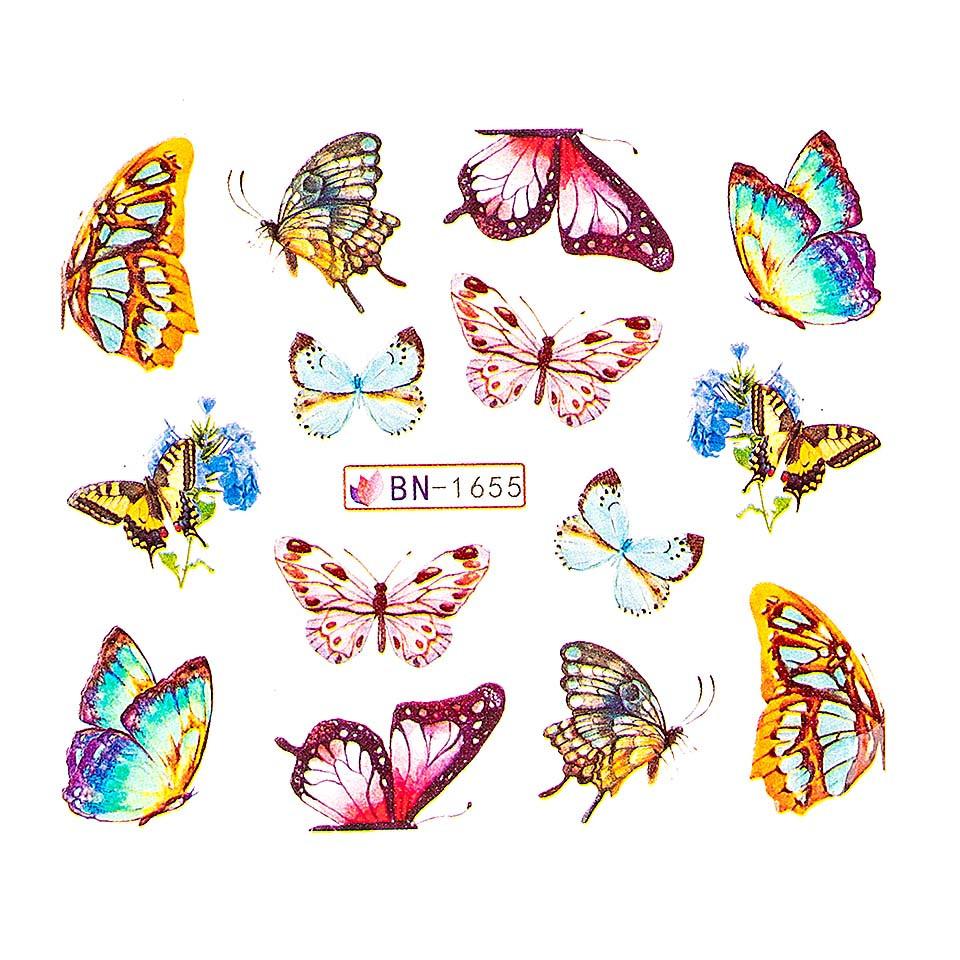 Tatuaj unghii LUXORISE, Butterfly BN-1655 kitunghii.ro