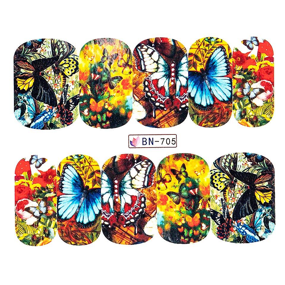 Tatuaj unghii LUXORISE, Butterfly BN-705 kitunghii.ro