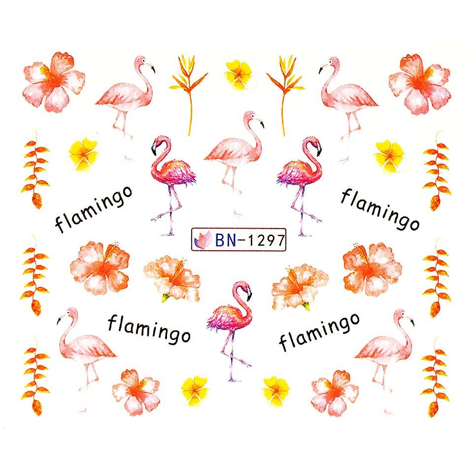 Tatuaj unghii LUXORISE, Flamingo BN-1297 imagine 2021 kitunghii