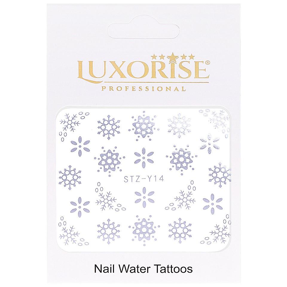 Tatuaj unghii LUXORISE, Winter STZ-Y14 argintiu imagine produs