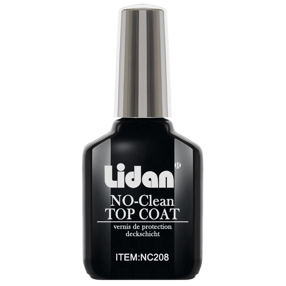 Top Coat Gel UV Profesional Lidan fara degresare, 18 ml imagine produs