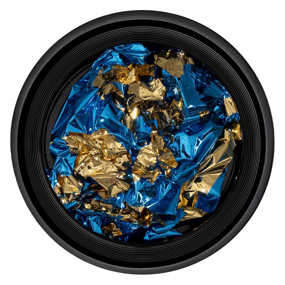 Foita Unghii LUXORISE - Unique Blue & Gold #04 kitunghii.ro