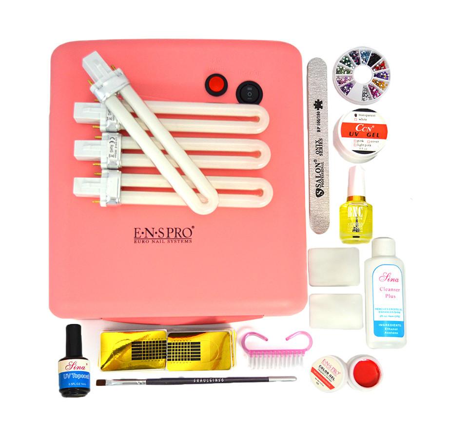 Kit Unghii False cu Gel UV pentru Incepatori - Promotie #47 + CADOU Gel Color ENS PRO