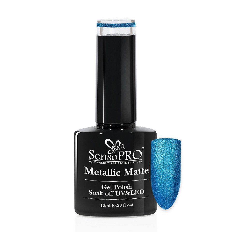 Oja Semipermanenta Metallic Matte SensoPRO 10ml, Infinite Blue #002 imagine 2021 kitunghii