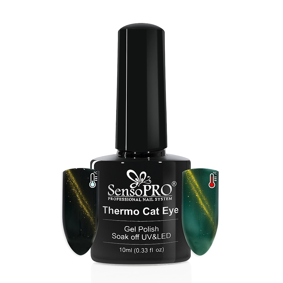Oja Semipermanenta Thermo Cat Eye SensoPRO 10 ml, #28 imagine 2021 kitunghii
