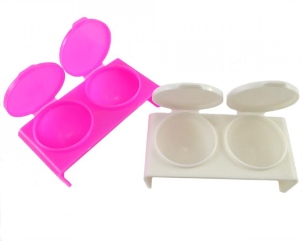 Recipient Mixare Culori 2 cupe - Accesorii Unghii