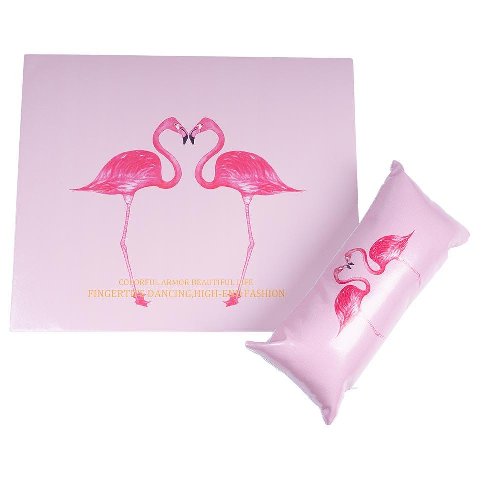 Suport Mana + Protectie Masa Manichiura Express Nails, Flamingo imagine 2021 kitunghii