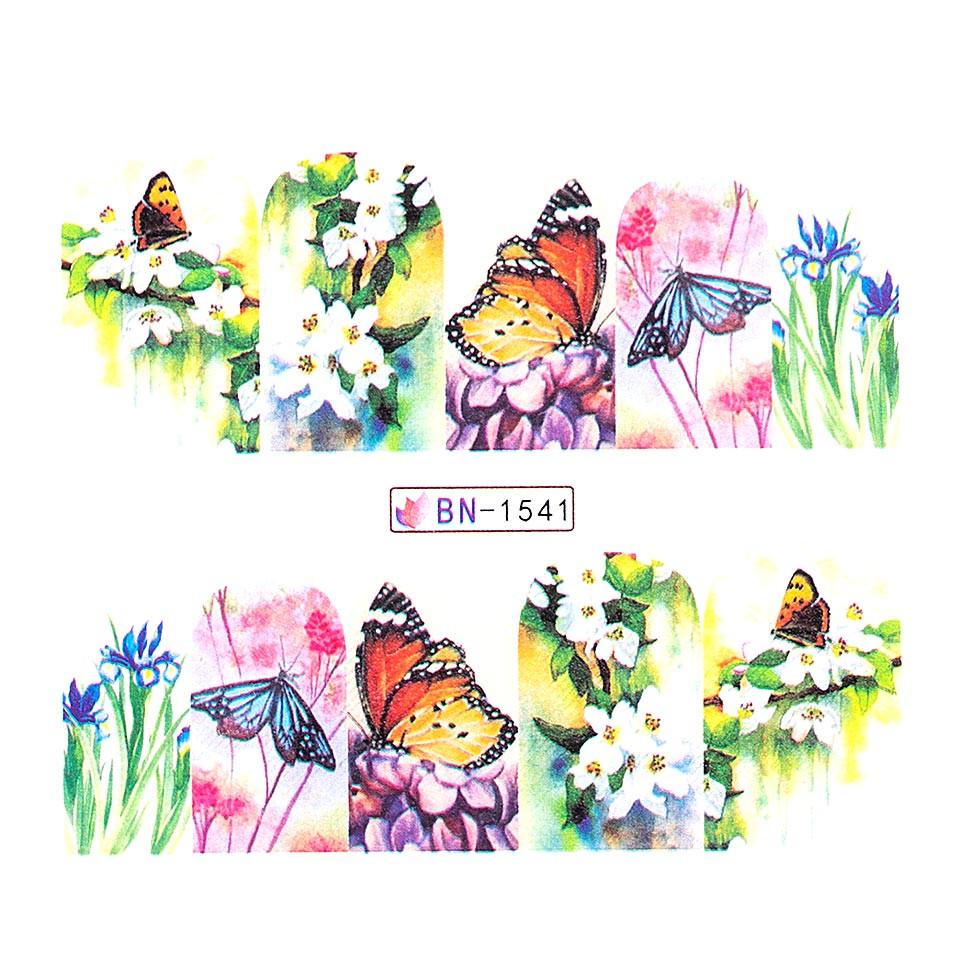 Tatuaj unghii LUXORISE, Butterfly BN-1541 kitunghii.ro