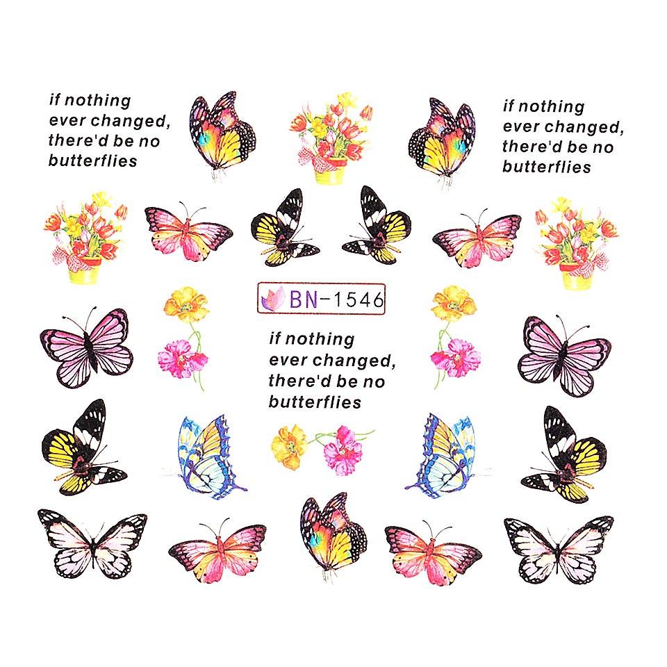 Tatuaj unghii LUXORISE, Butterfly BN-1546 kitunghii.ro