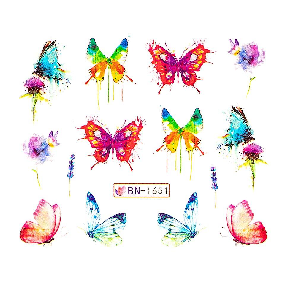 Tatuaj unghii LUXORISE, Butterfly BN-1651 imagine 2021